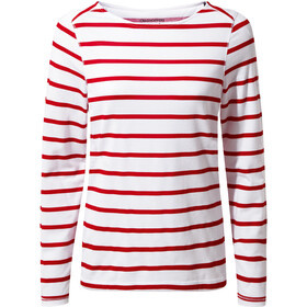Craghoppers NosiLife Erin Long Sleeved Top Dame winter rose stripe